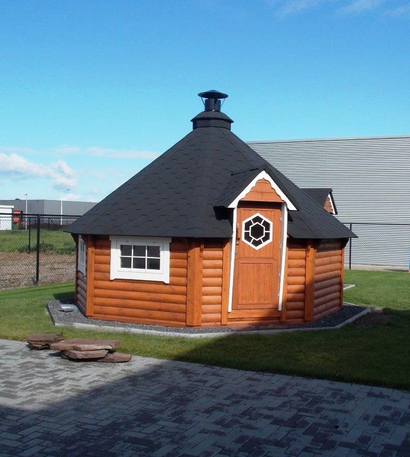 17m Grill Cabin With Extension Log Cabin From Carr Bank