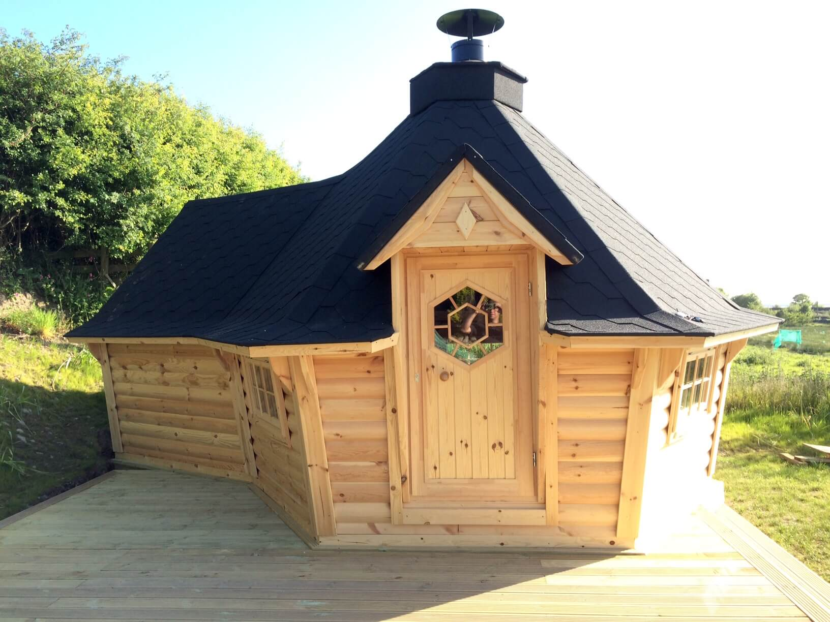 Grill Cabin With 2m Extension Installation Carr Bank