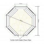 14.9m Grill Cabin Floor Plan