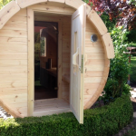 Pine Barrel Sauna from Carr Bank Garden Centre