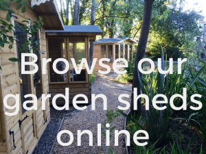 Browse garden sheds & summerhouses online