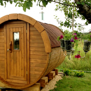 Wooden Barrel Sauna