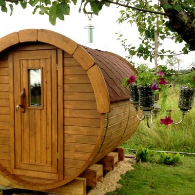 Wooden Barrel Sauna