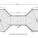 Twin 16.5m Grill Cabin Floor Plan