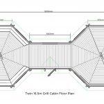 Twin 16.5m Grill Cabin Floor Plan