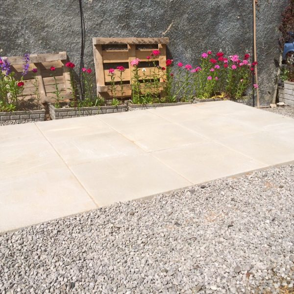 Concrete Paving Base shed base