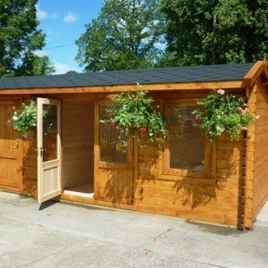 Crossley Dual 6m wide Log Cabin