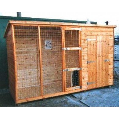 Dog Kennel Run Pent shed