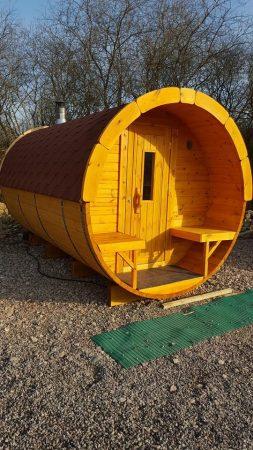 Hawes Villa 4m Pine Barrel Sauna