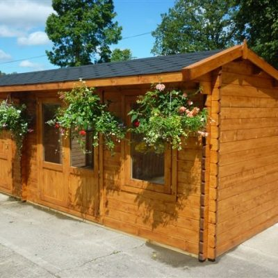 Dual 6m wide Log Cabin