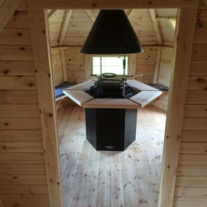 10m Cabin with 2m extension interior