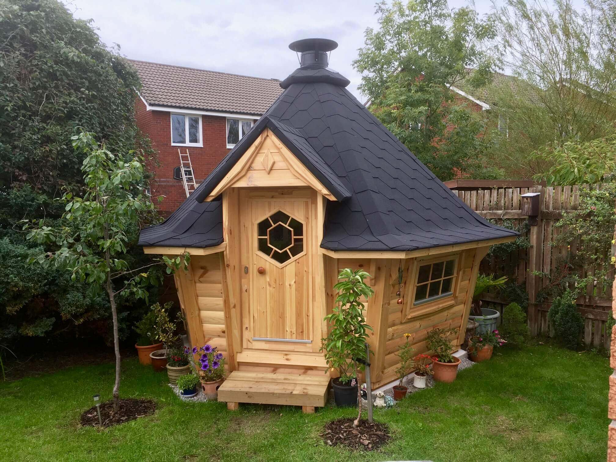 The Small 7m Grill Cabin From Carrbank Garden Centre