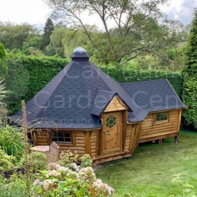 17m Sloping Wall Grill Cabin with 2.5m Extension