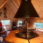 10m Sloping Cabin with extension interior
