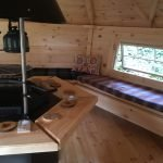 10m Sloping Wall Cabin interior