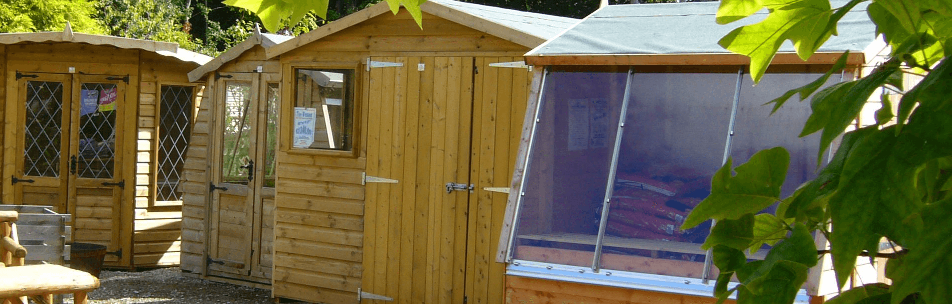 Sheds & Summerhouses from Carr Bank Garden Centre