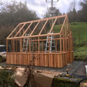 Alton Victorian Red Cedar Greenhouse Build
