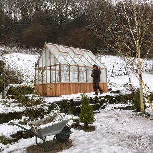 Alton Victorian Greenhouse in the snow