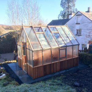 Slate Patio & Alton Victorian Red Cedar Greenhouse