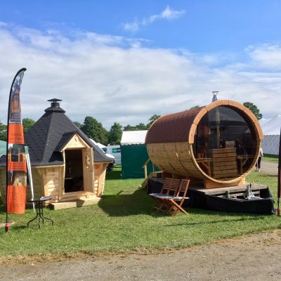 Displaying our Cabin & Barrel at Trade Show