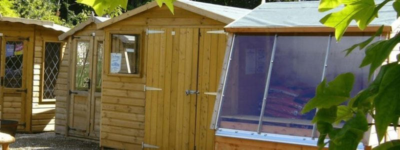 Sheds & Summerhouses at Carr Bank Garden Centre