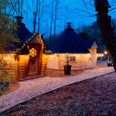 Our Display Barbecue Cabins with LED Lighitng