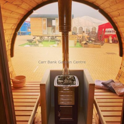 3.5m Thermowood Log Fired Barrel Sauna
